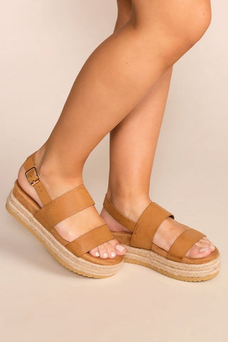 Take A Breather Red Platform Sandals