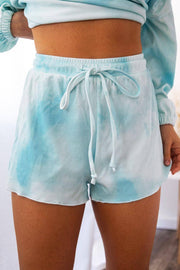Sweet Tooth Aqua Tie-Dye Shorts