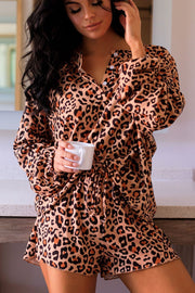 Leopard Print Long Sleeve Top
