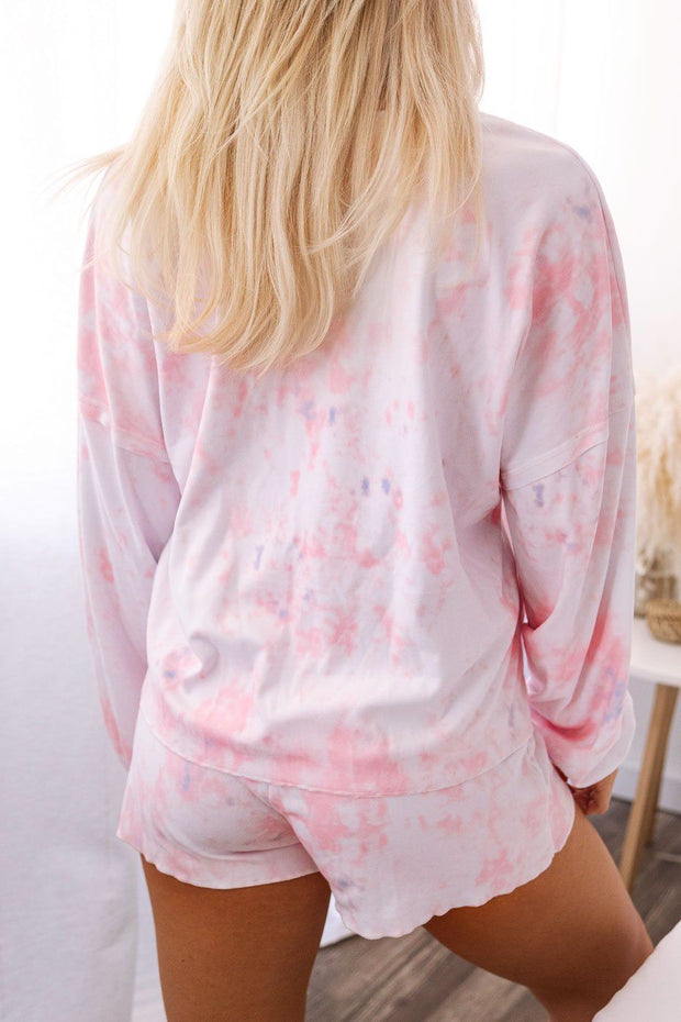 Light Pink Tie-Dye Long Sleeve Top