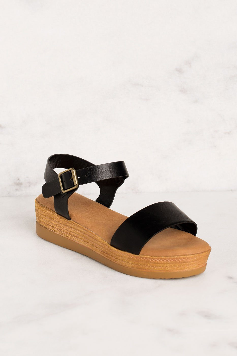 Priceless | Black | Platform Sandals | Shoes | Womens