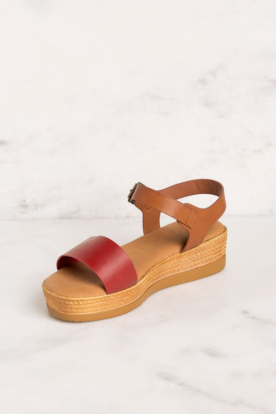 Priceless | Red | Platform Sandals | Shoes