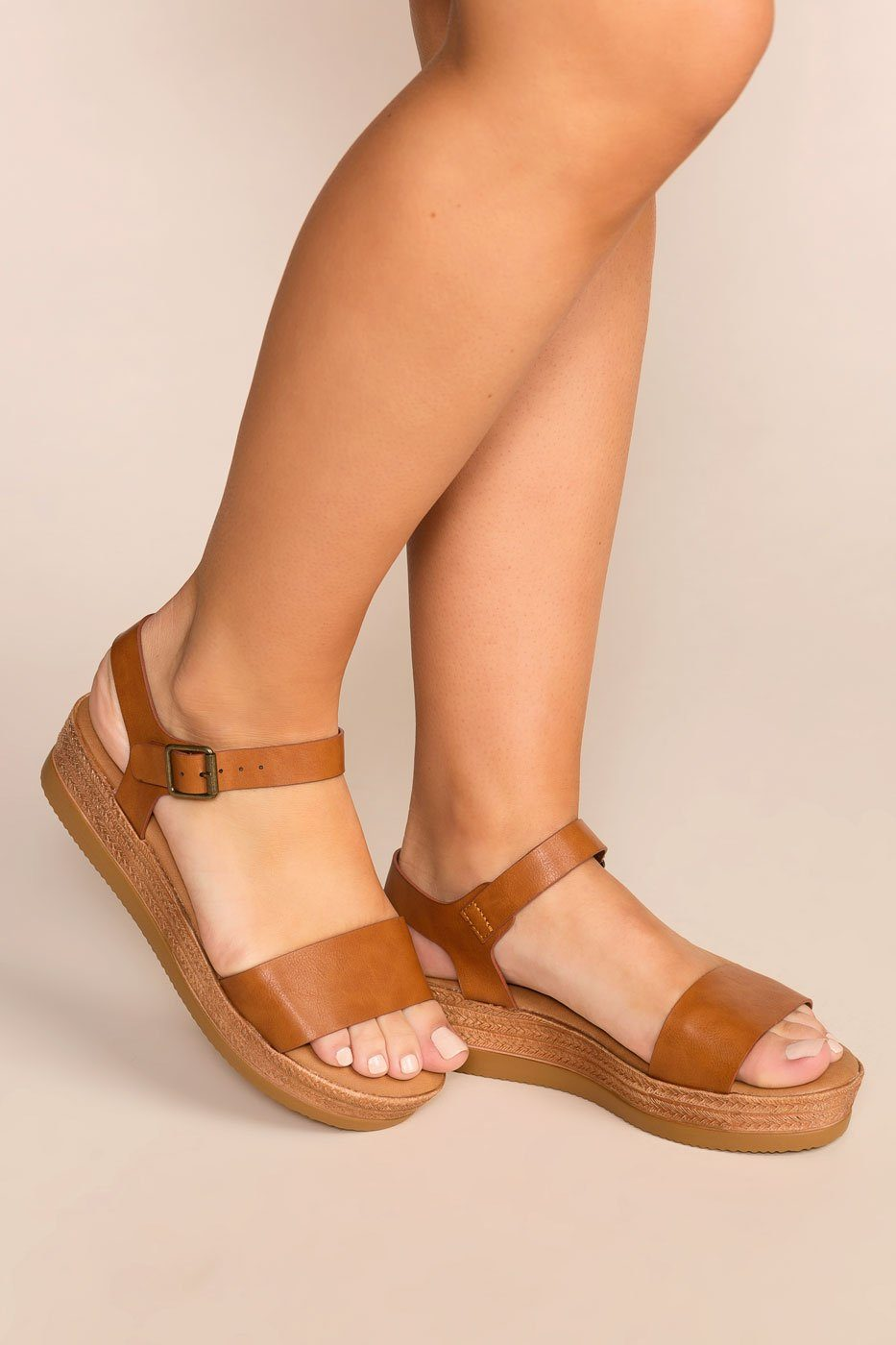 Platform Sandals Breather Tan A Take lK1JFc