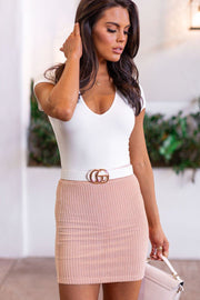 Talk To Me Blush Mini Skirt