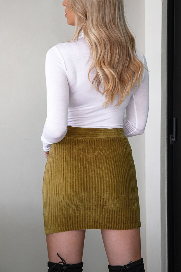 Light Olive Mini Skirt