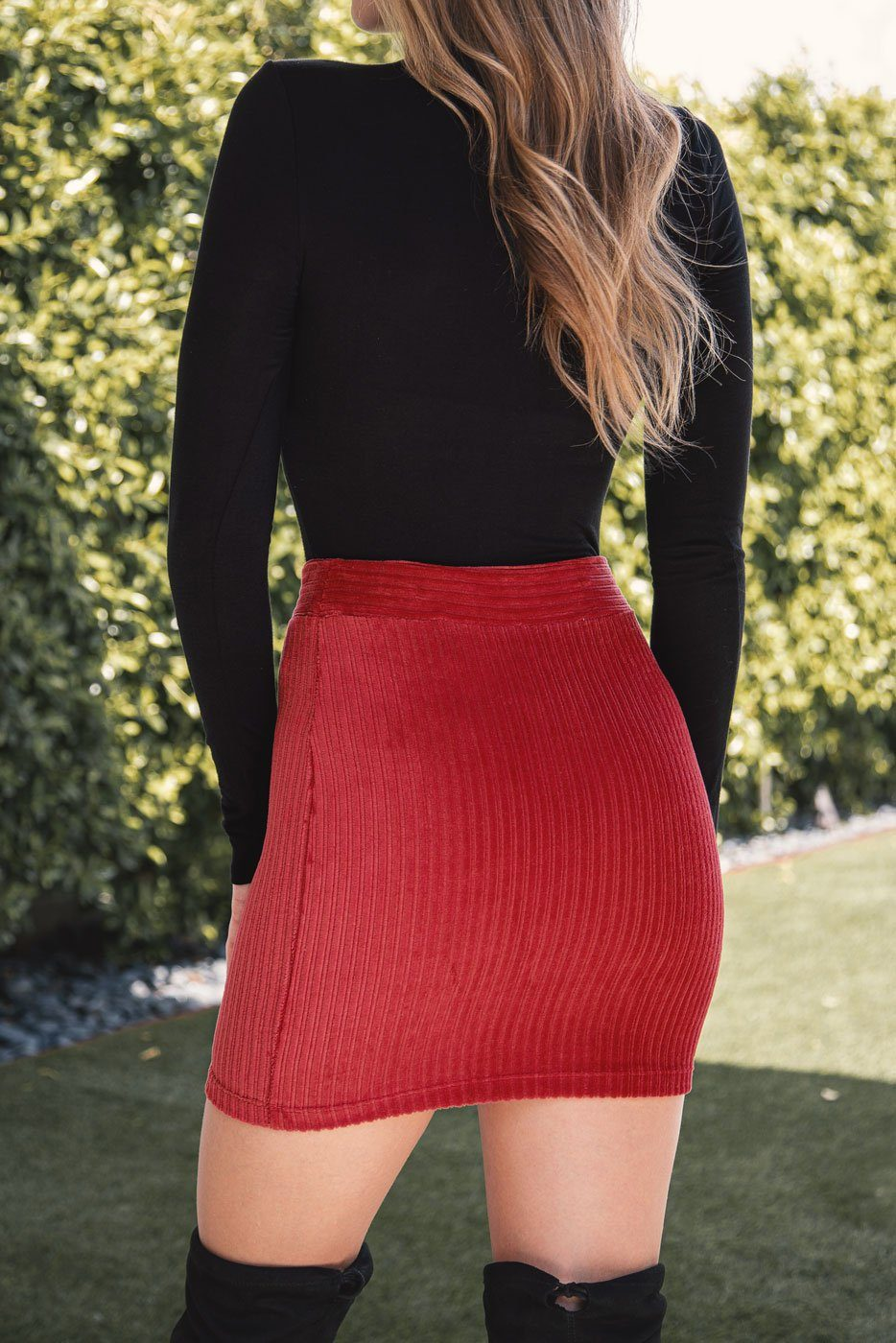Red Mini Skirt