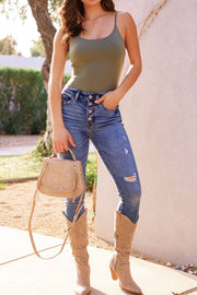 Olive Tank Top Bodysuit