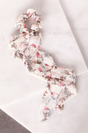 The Sweet Life Ivory Floral Hair Tie
