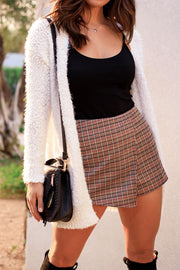 There She Goes White Bubble Knit Cardigan