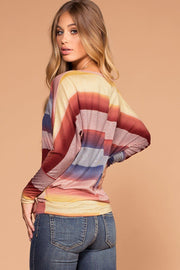 Tobi Multi Color Stripe Knit Top | Shop Priceless