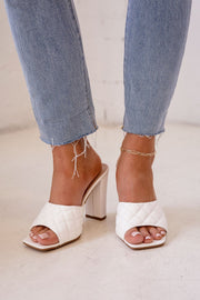 Quilted Slip On Heels