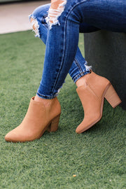 Trinity Tan Ankle Booties