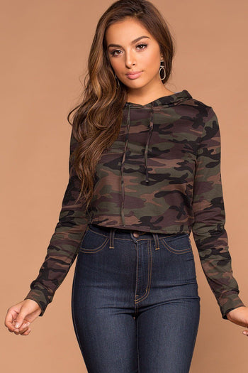 Under Cover Camo Stripe Crop Top