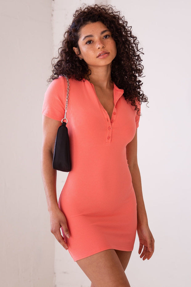 Upbeat Coral Dress
