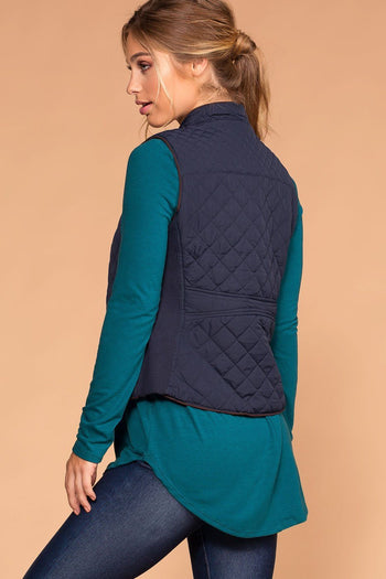 Vail Quilted Vest - Navy