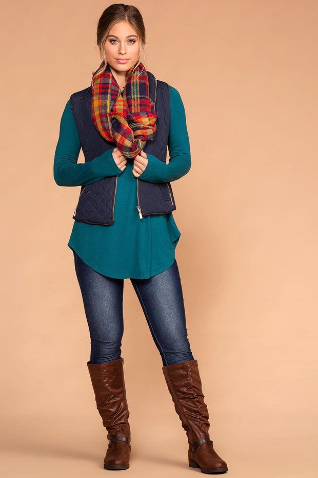 Vail Quilted Vest - Navy | Shop Priceless