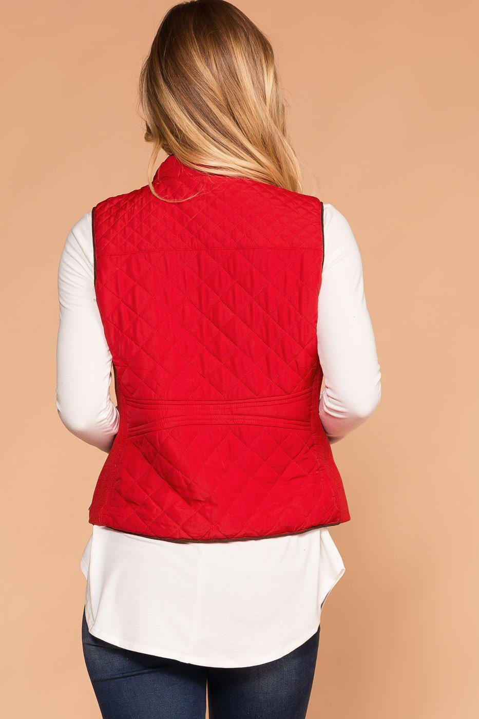 Vail Quilted Vest - Red | Active Basic