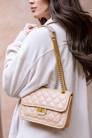 Valencia Khaki Quilted Purse