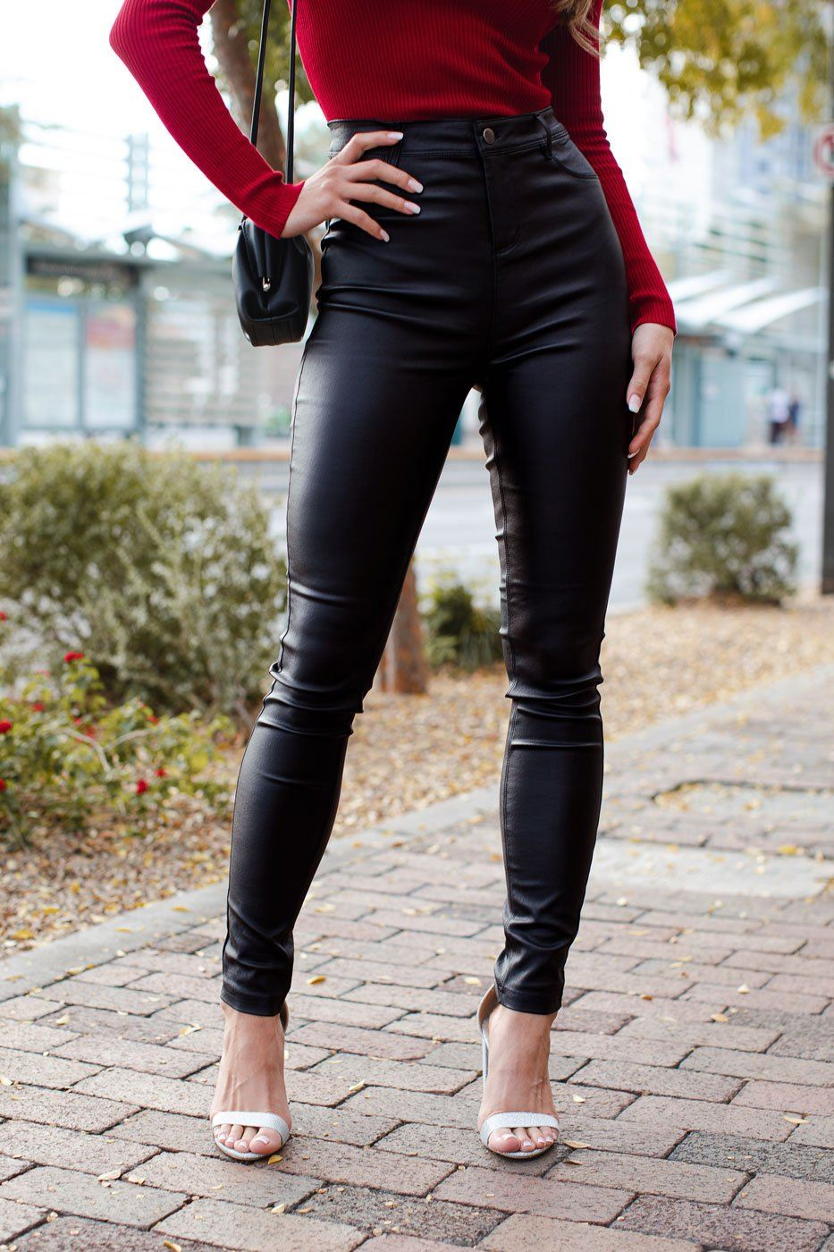 long legs leather pants Trophy Wife Fashions