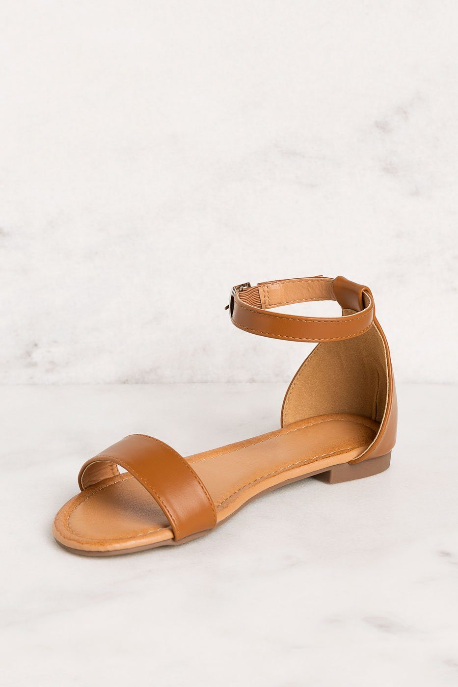 Priceless | Tan | Ankle Strap | Sandals | Shoes | Womens