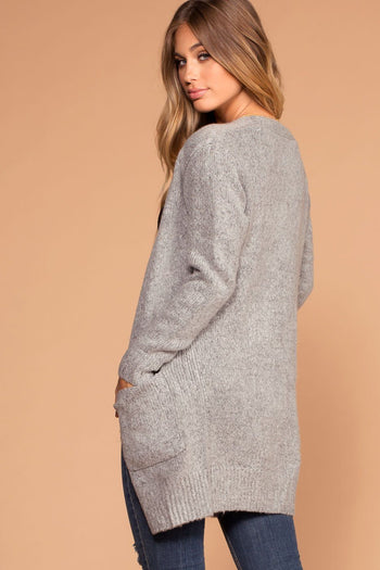 Warm And Fuzzy Heather Gray Cardigan | Shop Priceless