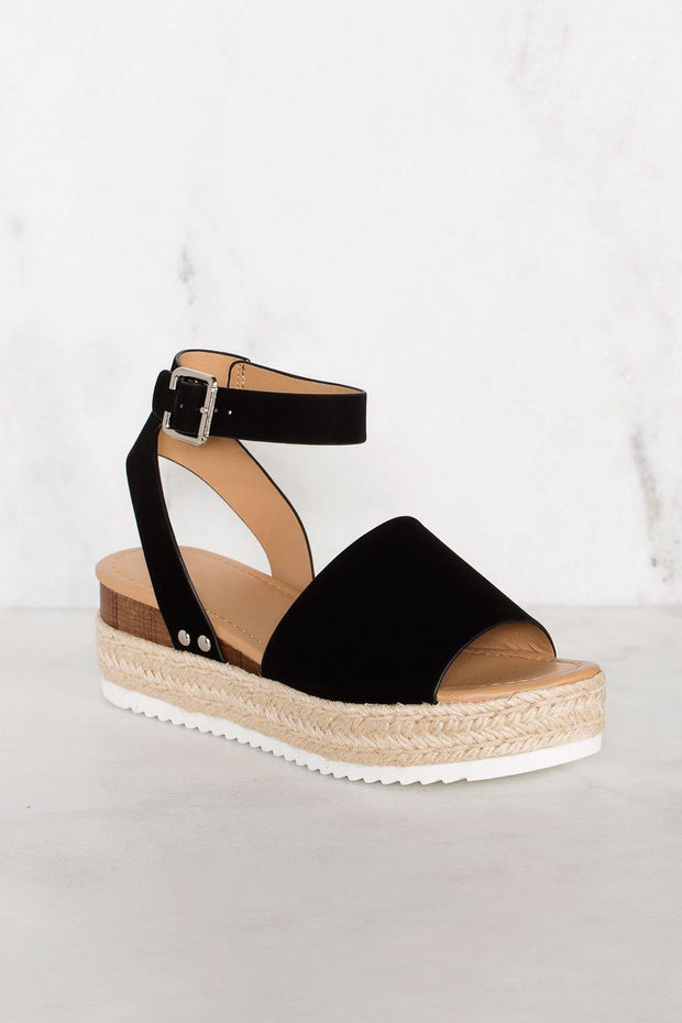 Weekend Black Platform Sandals