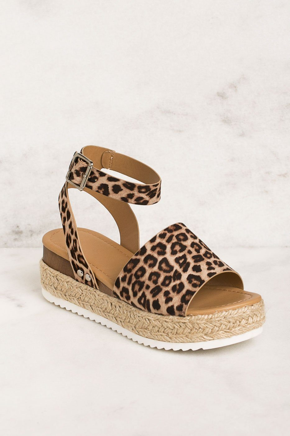 Weekend Cheetah Platform Sandals | Fortune Dynamic