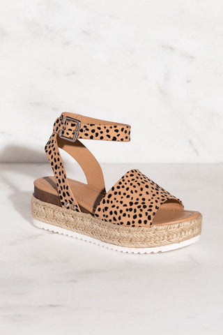 Weekend Rust Platform Sandals