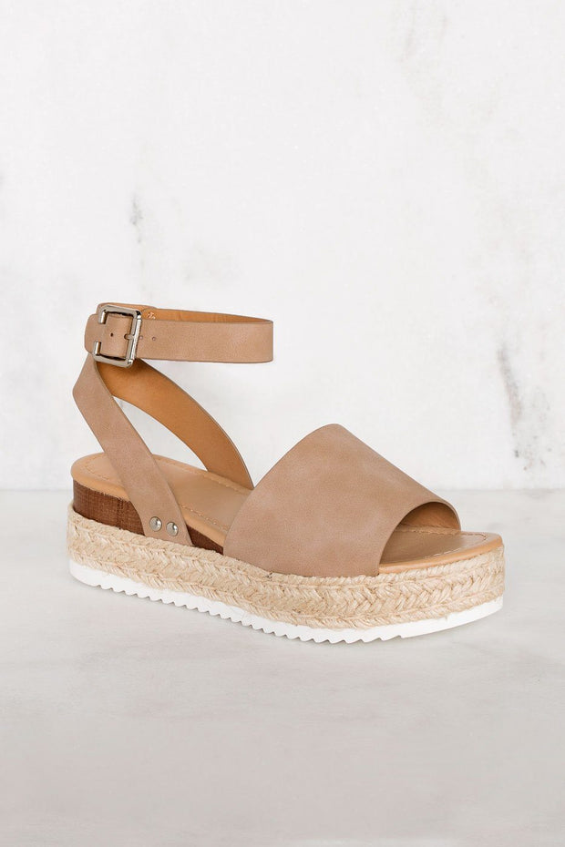 Weekend Natural Platform Sandals