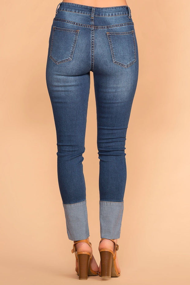 Priceless | Straight Leg | High Rise Jeans | Cuffed Jeans | Womens