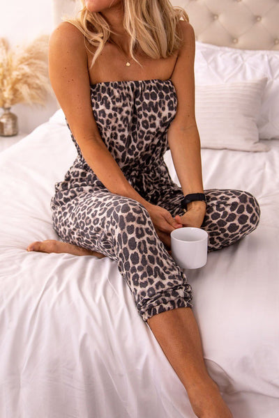 Wild Thing Leopard Print Jumpsuit