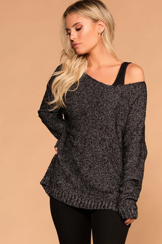 Laurel Blush Off The Shoulder Knit Sweater