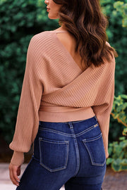 Wrap Party Clay Tie-Front Top