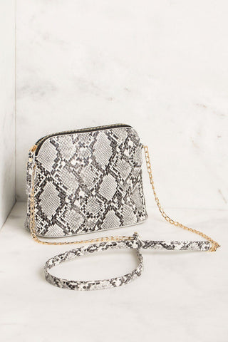 Stylin' White Snake Embossed Bag