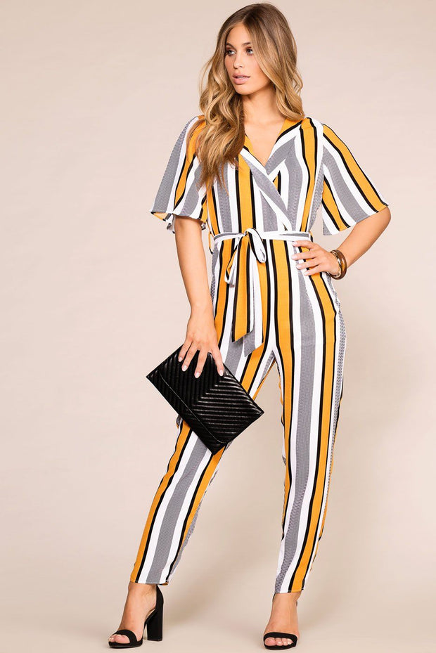 You're Golden Striped Jumpsuit | Shop Priceless