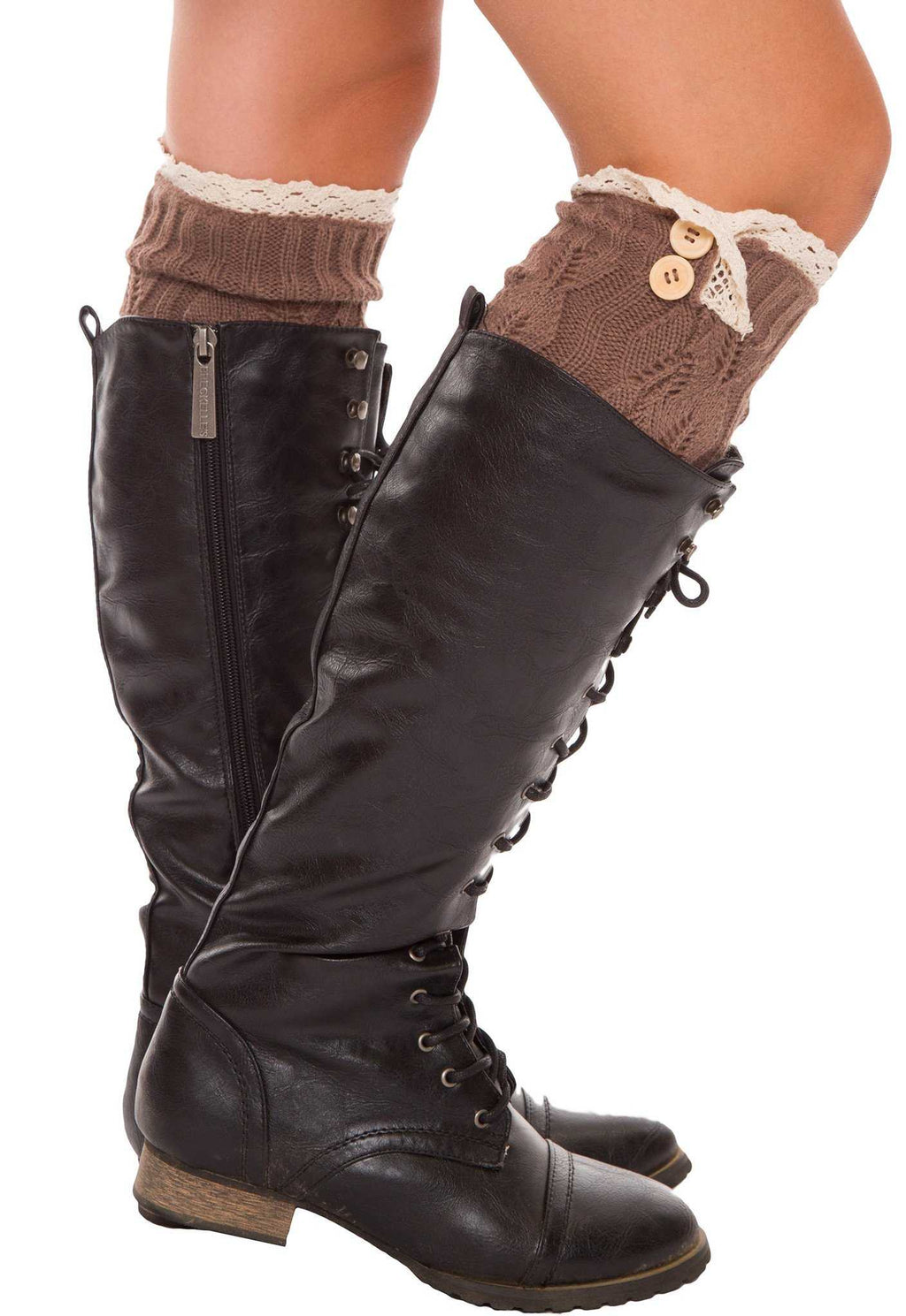 Accessories - Amberly Leg Warmers - Brown