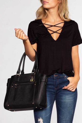 Tassel Demi Hobo Purse