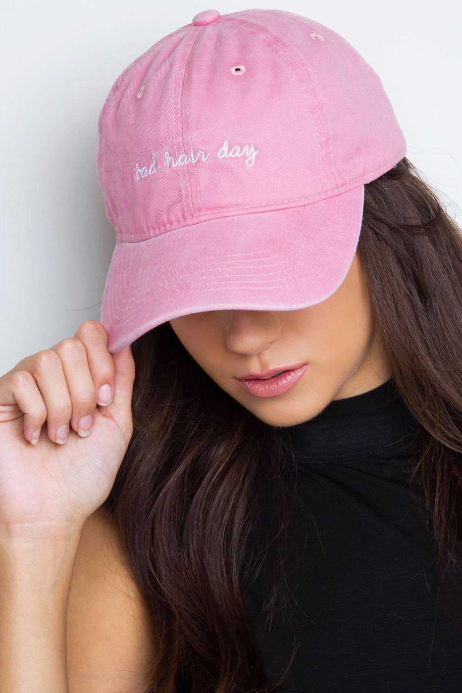 bde4588052268 Bad Hair Day Baseball Cap - Blush