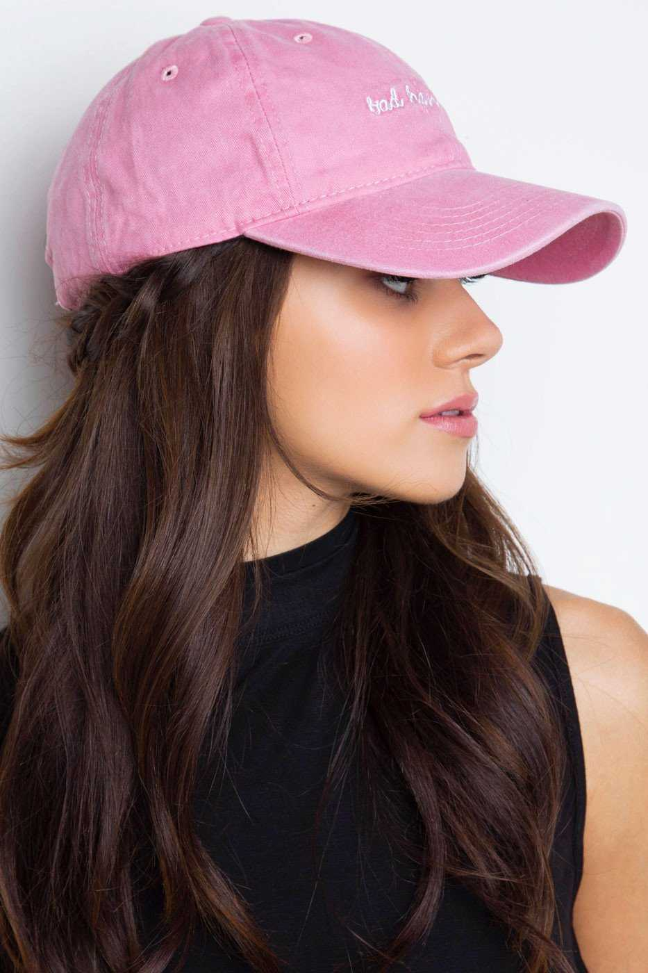 8fbcffc9fdb7d ... Accessories - Bad Hair Day Baseball Cap - Blush ...