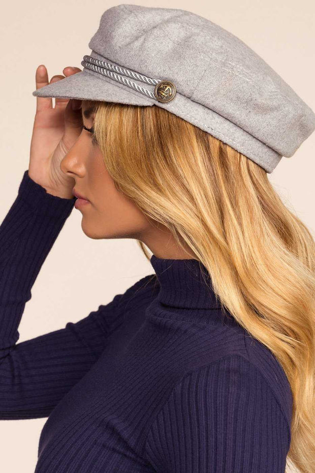 Accessories - Brix Fiddler Cap - Heather Grey