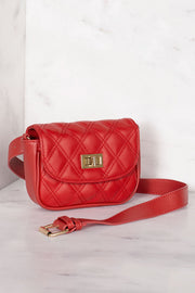 Red Convertible Waist Belt Bag