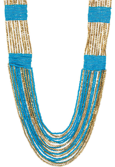 Accessories - Coco Beaded Necklace - Blue