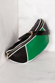 Green and Black Waist Belt Bag