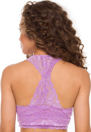 Accessories - Devina Lace Bralette - Lilac