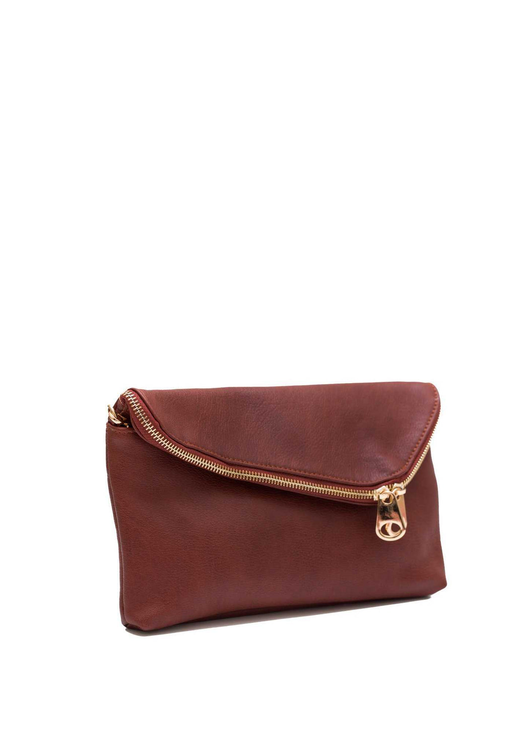 Accessories - Diana Pleather Clutch - Brown