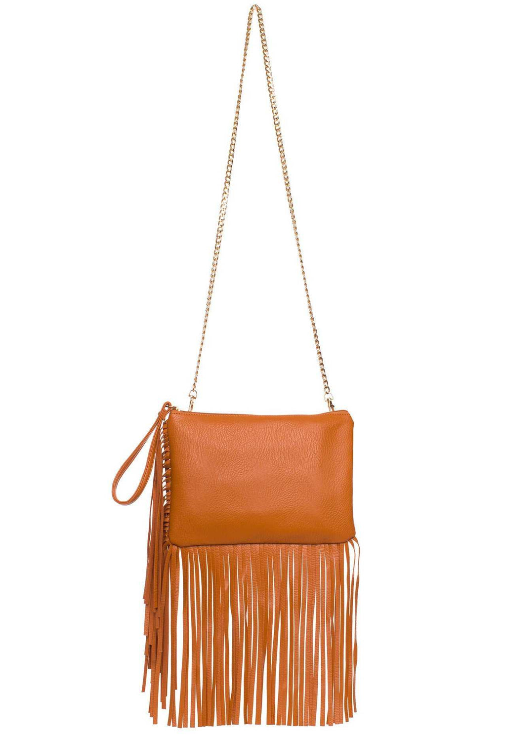 Accessories - Dream Chaser Fringe Purse - Tan