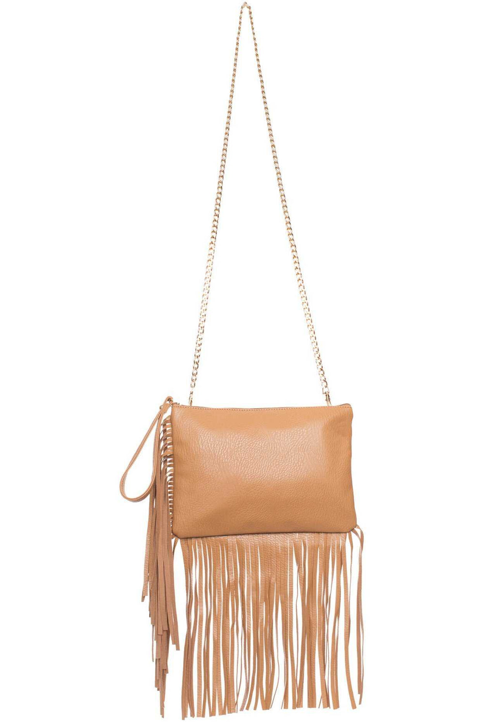 Accessories - Dream Chaser Fringe Purse - Taupe