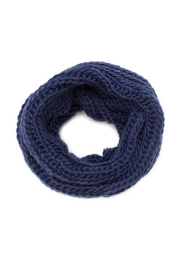 Accessories - Easy Breezy Infinity Scarf - Navy