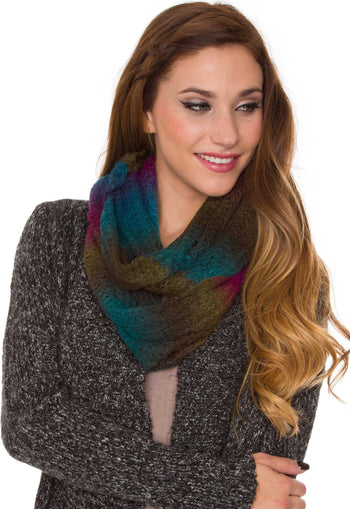 Accessories - Everly Infinity Scarf - Military Multi
