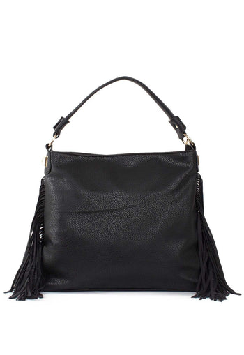 Accessories - Forever Fringe Purse - Black